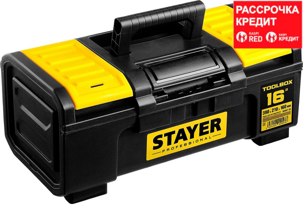 """Ящик для инструмента """"TOOLBOX-16"""" пластиковый, STAYER Professional (38167-16)"""
