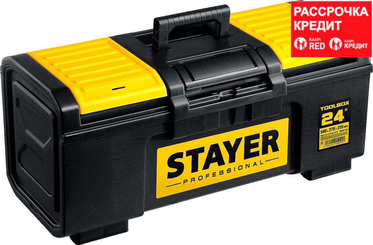 """Ящик для инструмента """"TOOLBOX-24"""" пластиковый, STAYER Professional (38167-24)"""
