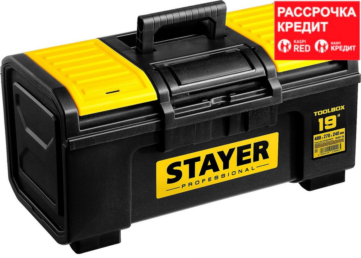 """Ящик для инструмента """"TOOLBOX-19"""" пластиковый, STAYER Professional (38167-19)"""