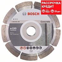 Алмазный отрезной круг по бетону Bosch Standard for Concrete 150x22.23x2x10 мм, фото 1