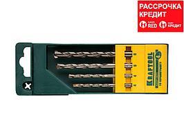 KRAFTOOL EXPERT 4 шт: 4-4-6-8 мм набор сверл по керамограниту (29170-H4)