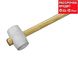 ЗУБР МАСТЕР 230г резиновая Белая киянка с деревянной рукояткой (20511-230_z01)