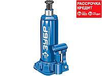 ЗУБР 6т, 215-415мм домкрат бутылочный гидравлический в кейсе, Профессионал (43060-6-K_z01)