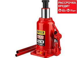 STAYER RED FORCE 20т 242-452мм домкрат бутылочный гидравлический (43160-20_z01)