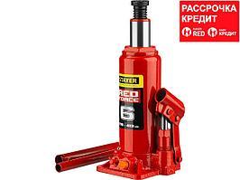STAYER RED FORCE 6т 216-413мм домкрат бутылочный гидравлический (43160-6_z01)