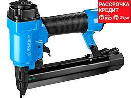 ЗУБР степлер (гвозде/скобозабиватель) пневматический для скоб тип 55 (16-30 мм) и тип 300 (10-35 мм) (3192)