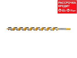 STAYER Spiral 25x450/360мм, сверло левиса по дереву, шестигранный хвостовик (29475-450-25)