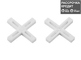 ЗУБР 6мм крестики для плитки, 75шт (33811-6)