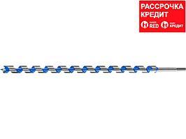 Сверло по дереву спираль Левиса ЗУБР 2948-600-25, ЭКСПЕРТ шестигранный хвостовик 12,5мм, d=25мм, L=600мм