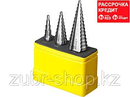 STAYER 3 шт, 4-30мм, набор сверл ступенчатых, сталь HSS (29660-4-30-H3)