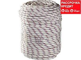 Фал плетёный полипропиленовый СИБИН 24-прядный с полипропиленовым сердечником, диаметр 12 мм, бухта 100 м, 1000 кгс (50215-12)