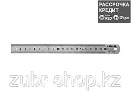 """Линейка STAYER """"PROFI"""" нержавеющая, двухсторонняя гравированная шкала, 0,2м (3427-020_z01)"""