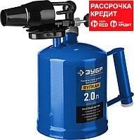 """ЗУБР """"ПРОФЕССИОНАЛ"""". Лампа паяльная ВУЛКАН, со стальным эжектором, 2,0 л (40652-2.0_z02)"""