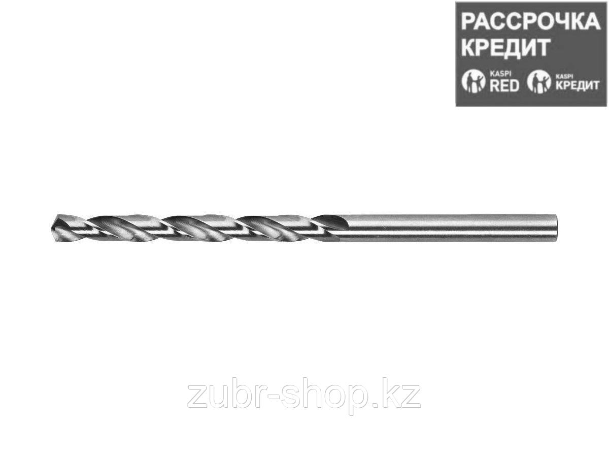 KRAFTOOL HSS-M2 4.2х75мм, Сверло по металлу HSS-G, сталь М2(S6-5-2) (29650-075-4.2)