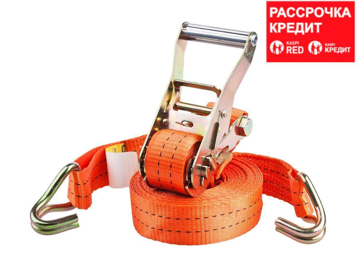 """Ремень STAYER """"PROFESSIONAL"""" для крепления груза, ширина ленты 35мм, нагрузка до 2000кг, длина 6м (40562-6)"""