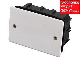 Коробка монтажная СВЕТОЗАР для подштукатурного монтажа, макс. напряжение 400В, с крышкой, 100х60х50мм, прямоугольная (SV-54925)