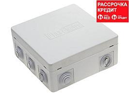 Коробка распределительная для наружного монтажа, макс.напряжение 400В,IP 54, 9вводов, 125x125x50мм, СВЕТОЗАР (SV-54959)