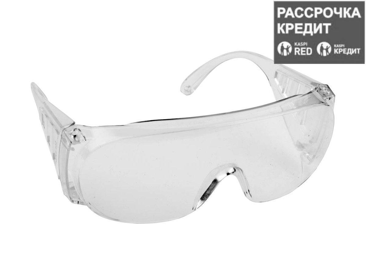 Очки защитные DEXX 11050, поликарбонатная монолинза с боковой вентиляцией, прозрачные