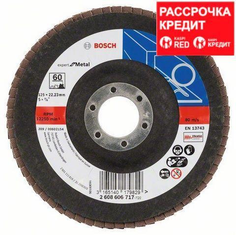 Лепестковый шлифовальный круг угловой Bosch Expert for Metal K 60, 125 мм