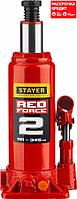 STAYER RED FORCE 2т 181-345мм домкрат бутылочный гидравлический (43160-2_z01), фото 1