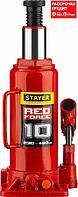 STAYER RED FORCE 10т 230-460мм домкрат бутылочный гидравлический (43160-10_z01)