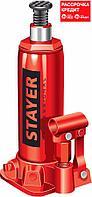 STAYER RED FORCE 4т 194-372мм домкрат бутылочный гидравлический в кейсе (43160-4-K_z01), фото 1