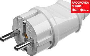 Вилка MAXElectro электрическая, 16А/220В, с заземлением, белая, STAYER (55160-W)