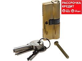 "Механизм ЗУБР ""МАСТЕР"" цилиндровый, тип ""ключ-ключ"", цвет латунь, 5-PIN, 70мм (52101-70-1)"