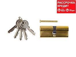"Механизм ЗУБР ""МАСТЕР"" цилиндровый, тип ""ключ-ключ"", цвет латунь, 5-PIN, 80мм (52101-80-1)"