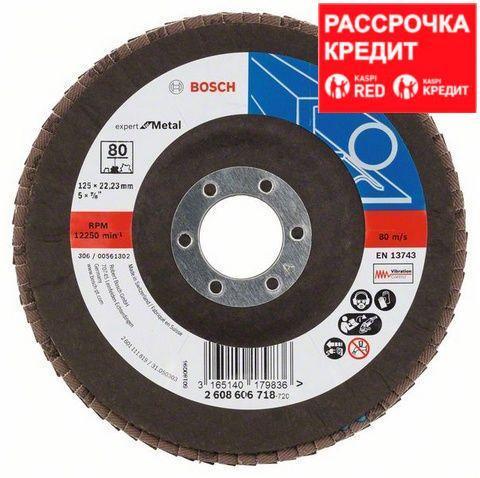 Лепестковый шлифовальный круг угловой Bosch Expert for Metal K 80, 125 мм