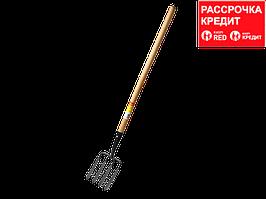GRINDA 180х220х1300 мм, вилы копальные кованые, четырёхрогие, с деревянным черенком (39722)