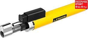 "Газовая горелка-карандаш ""MaxTerm"", STAYER ""MASTER"" 55560, с пьезоподжигом, регулировка пламени, 1100С (55560)"