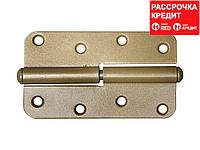 "Петля накладная стальная ""ПН-110"", цвет бронзовый металлик, правая, 110мм (37655-110R)"