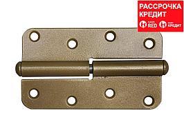 """Петля накладная стальная """"ПН-110"""", цвет золотой металлик, правая, 110мм (37653-110R)"""
