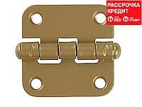 """Петля накладная стальная """"ПН-40"""", цвет золотой металлик, универсальная, 40мм (37623-40)"""