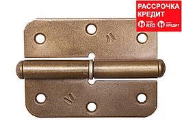 "Петля накладная стальная ""ПН-85"", цвет бронзовый металлик, левая, 85мм (37645-85L)"