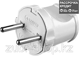 Вилка MAXElectro электрическая, 6А/220В, белая, STAYER (55150-W)