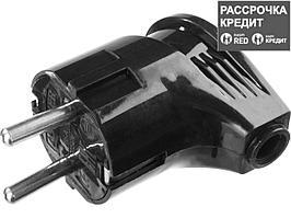 Вилка MAXElectro электрическая, 16А/220В, угловая, с заземлением, черная, STAYER (55161-B)