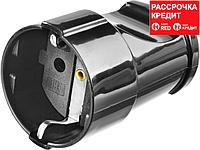 Розетка MAXElectro электрическая, 16А/220В, с заземлением, черная, STAYER (55180-B)