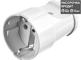 Розетка MAXElectro электрическая, 16А/220В, с заземлением, белая, STAYER (55180-W)