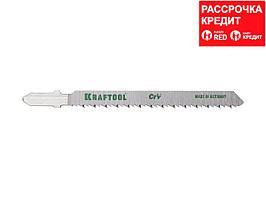 Пилки для электролобзика KRAFTOOL 159516-2,5, Cr-V, по дереву, фанере, ламинату, обратный рез, EU-хвостик, шаг 2,5 мм, 75 мм, 2 шт