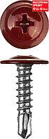 Саморезы ПШМ-С со сверлом для листового металла, 25 х 4.2 мм, 400 шт, RAL-3005 темно-красный, ЗУБР (300211-42-025-3005)