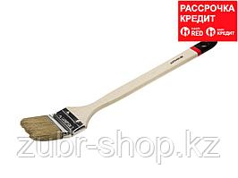 """Кисть STAYER """"MASTER"""" """"Универсал"""" радиаторная для всех видов ЛКМ, светлая натурал щетина, деревянная ручка,"""