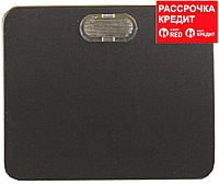 """Выключатель СВЕТОЗАР """"ГАММА"""" с подсветкой, одноклавишный, без вставки и рамки, цвет темно-серый металлик, 10A/~250B (SV-54131-DM)"""