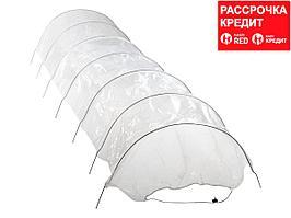 Парник садовый GRINDA 8-422355, в комплекте: стальные оцинкованные дуги и плёнка 120 мкм, 300х65х45 см