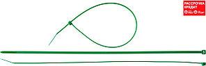Кабельные стяжки зеленые КС-З1, 3.6 x 300 мм, 100 шт, нейлоновые, ЗУБР Профессионал (309060-36-300)