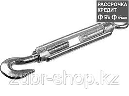 Талреп DIN 1480, крюк-кольцо, М12, 4 шт, оцинкованный, STAYER (30515-12)