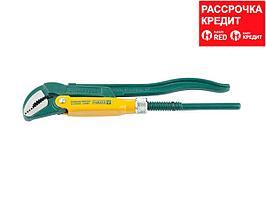 KRAFTOOL PANZER-V, №0, ключ трубный, изогнутые губки (2735-05_z01)