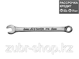 Комбинированный гаечный ключ 6 мм, STAYER (27085-06)