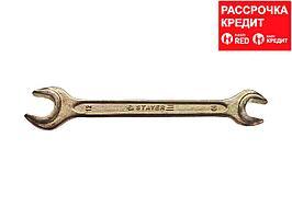 Рожковый гаечный ключ 10 x 12 мм, STAYER (27038-10-12)